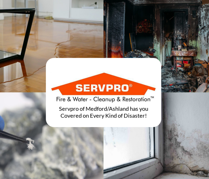 Why ServPro of Grants Pass/ Central Point - collage of locations with SERVPRO logo