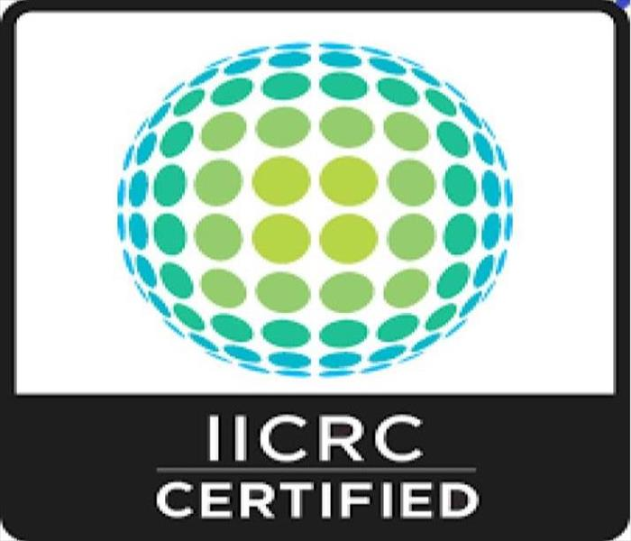 "Image of IICRC logo with word ""IICRC Certified"" underneath"